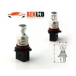 2 Ampoules LED P13W - 1600Lms -  LED 1860 Antibrouillard & Feux de virage