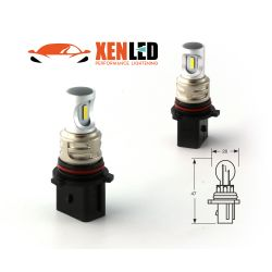 2 LED Birnen P13W - 1600Lms - LED 1860 Nebelscheinwerfer & Kurvenlichter