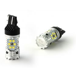 2X GLÜHBIRNEN W21/5W XENLED V2.0 30 LED EPISTAR - CANBUS LEISTUNG - WEISS