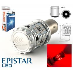 1x LAMPADINA P21W ROSSO V2.0 30 LED EPISTAR - PRESTAZIONI CANBUS - XENLED