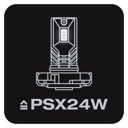 2X OSRAM PSX24W, FOGLIGHT, 2604CW, 12V, 6,7W PG20-7