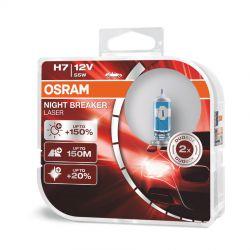 Pack de 2 ampoules H7 NIGHT BREAKER® LASER +150% GEN2 OSRAM 64210NL-HCB
