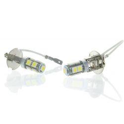 2 x H3 Led bulbs - SMD 9 LED 24V