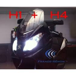 Pack Xenon H1 Xenon + H4 Bi-Xenon 8000K - Motorrad