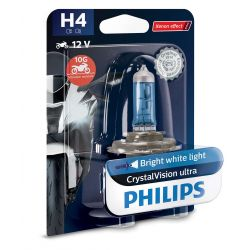 1x H4 60/55W CrystalVision ultra Philips moto 12342CVUBW