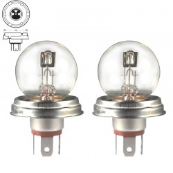 2 x Bulbs R2 P45t 45/40W 12V CLEAR - FRANCE-XENON